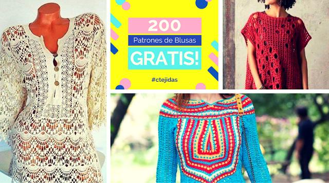 200 Patrones de Blusas a Ganchillo o Crochet para Descargar Gratis ...