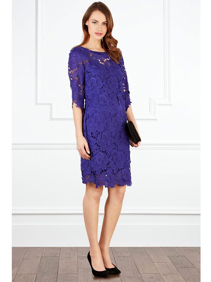 Buy Coast Vivianna Lace Dress, Purple online at JohnLewis.com - John ...