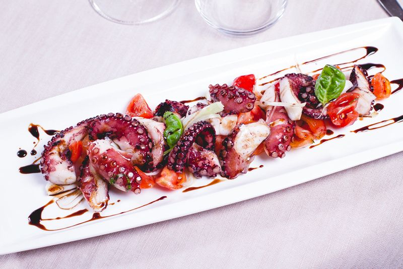 Polpo Con Salsa Caramellata Healthy Delicious Ethnic Recipes