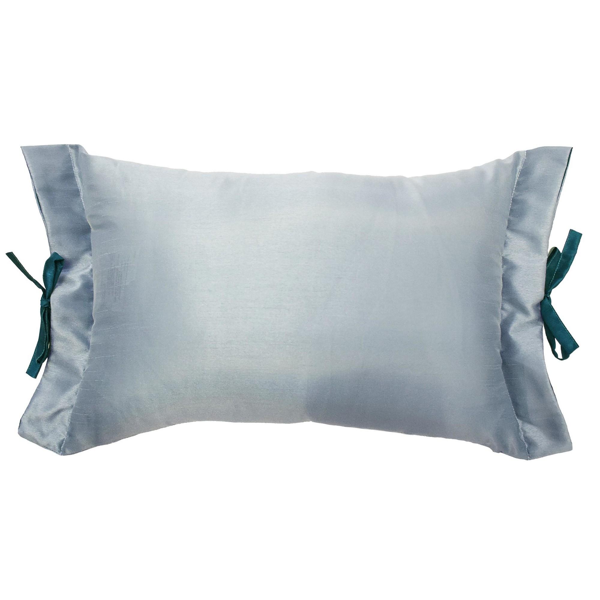 Teal Alexina Faux Silk Lumbar Pillow Beautyrest Pillows Decorative Pillows White Decorative Pillows