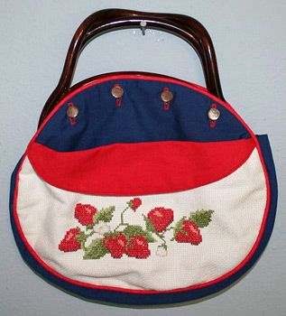 Strawberry Bermuda Bag Also Bought At Pagallo Handbags With Interchangeable Covers I Still Have Mine