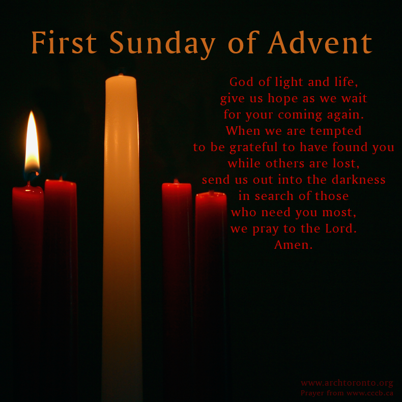 prayer for the first sunday of advent prayers quotes. Black Bedroom Furniture Sets. Home Design Ideas
