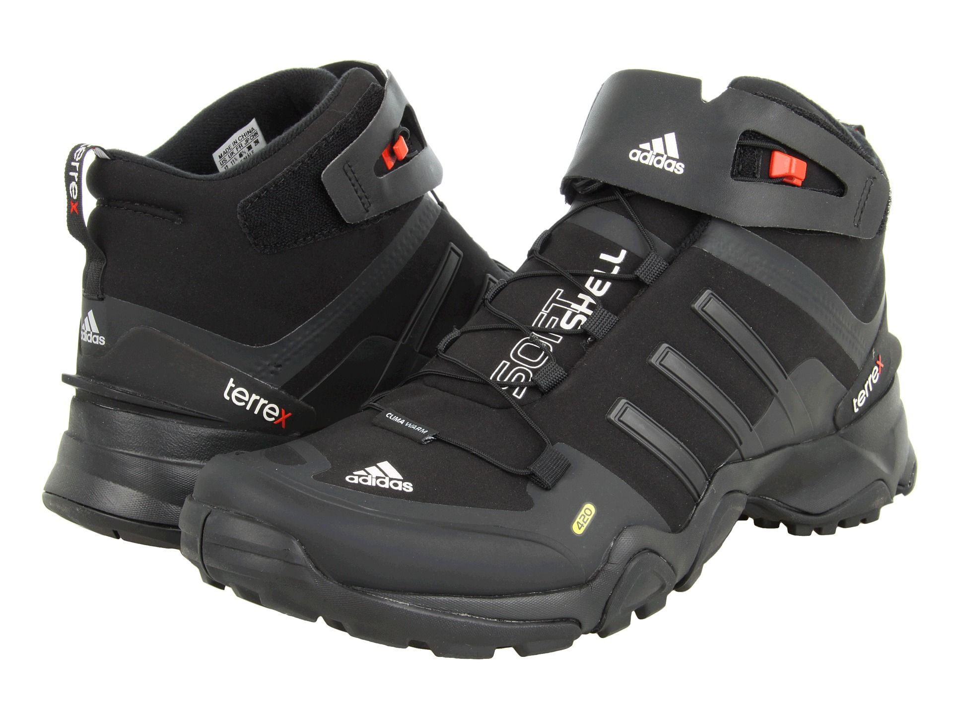 21eedaef18 adidas Outdoor Terrex Softshell Mid Black1/Black/Core Energy ...