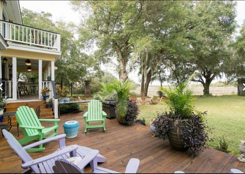 Deck and Grill views of Wando River charleston Pinterest