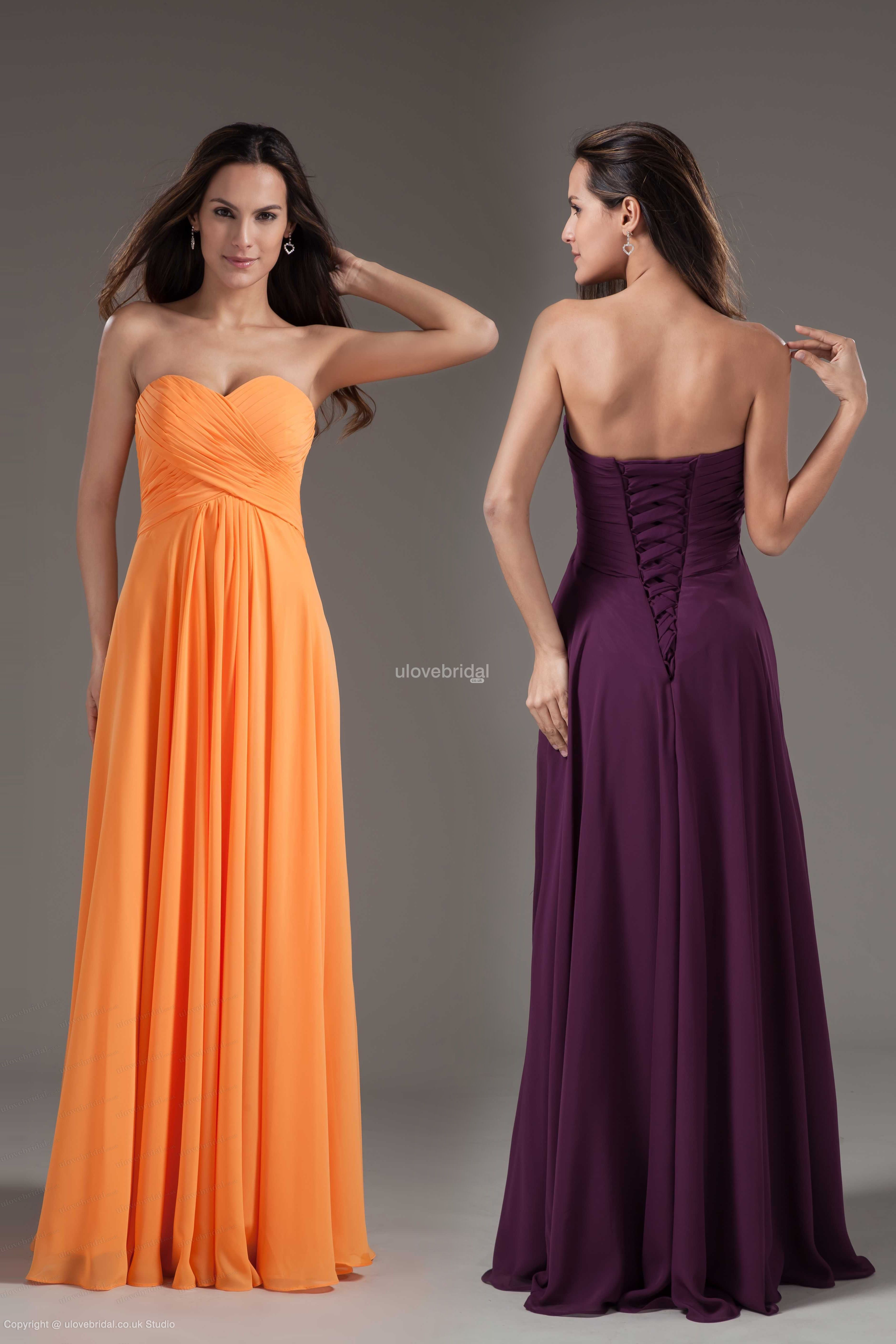 Charming Cheap Simple Sweetheart A-line Floor Length Gown