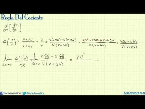Derivada del cociente de funciones - demostración - Regla del ...
