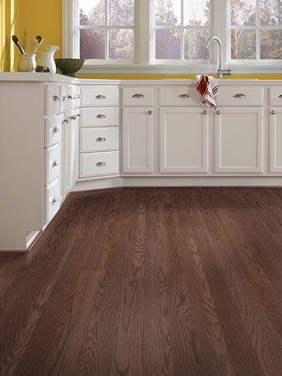 Darker Laminate Flooring Stretching Across This Kitchen Laminate
