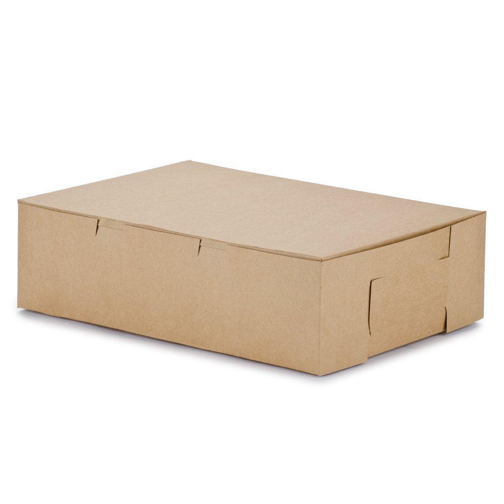 14 x 10 x 4 kraft quarter sheet cake bakery box 100