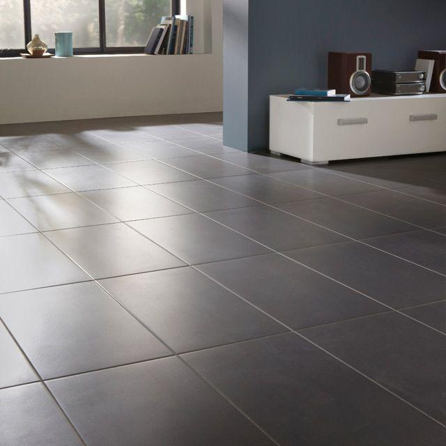 Carrelage sol et mur gris One 30 x 60 cm - CASTORAMA | Kitchen ...