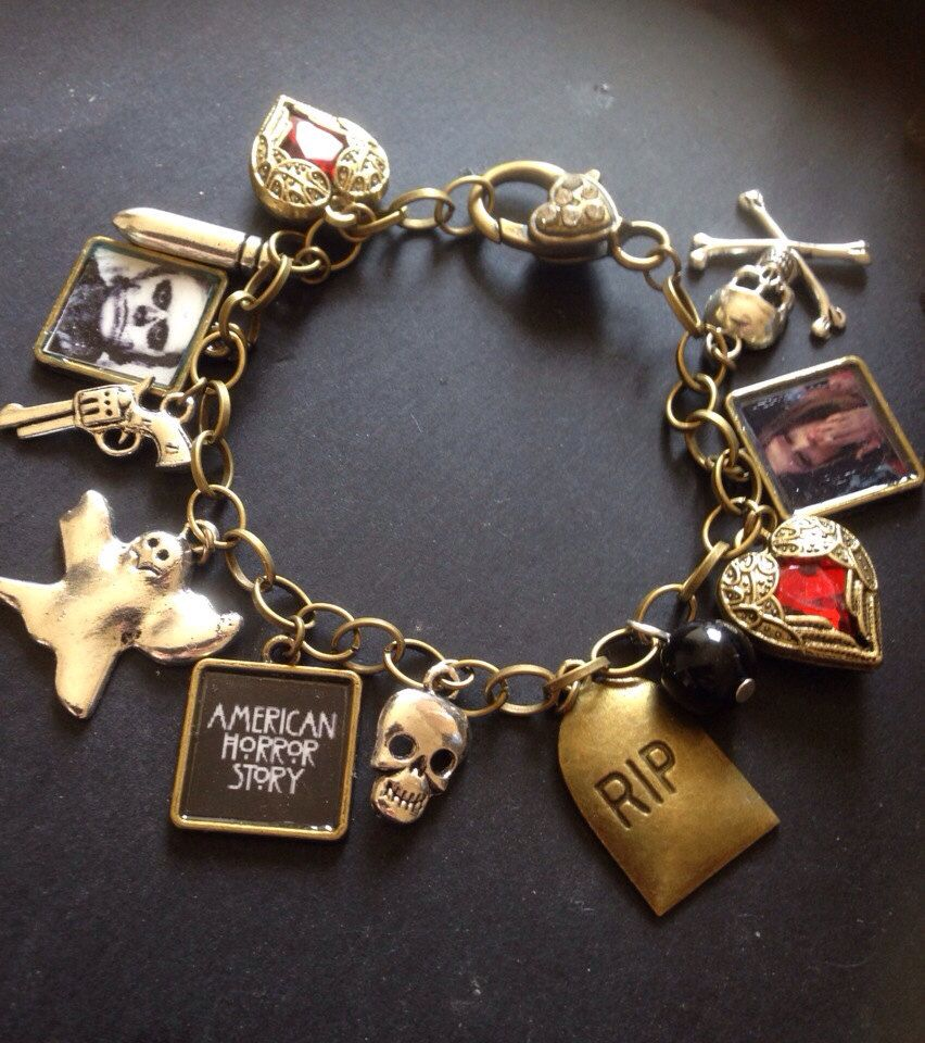 American horror story charm bracelet Tate and violet Need. Need. Need.