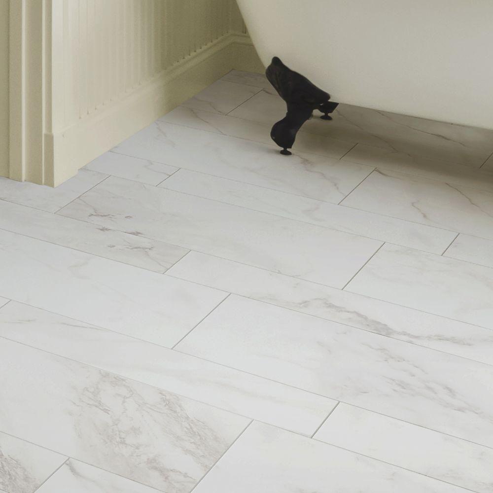 Marazzi Vitaelegante Bianco 12 In X 24 In Porcelain Floor And Wall