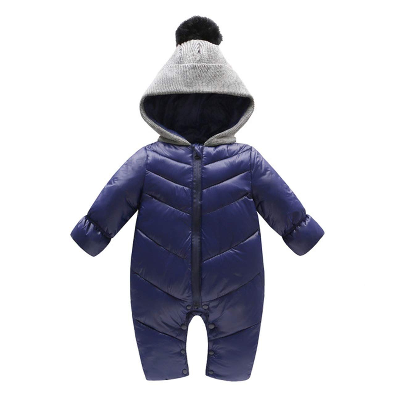 6cf3d735e Baby Girls Boys Toddler All in One Snowsuit Romper Zipper Warm Hooded Coat Baby  Winter Thick Jumpsuit 612 Months ** Click image to review more information.