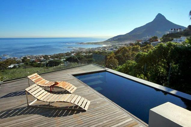 Cape town stunning pool with deck and what a view