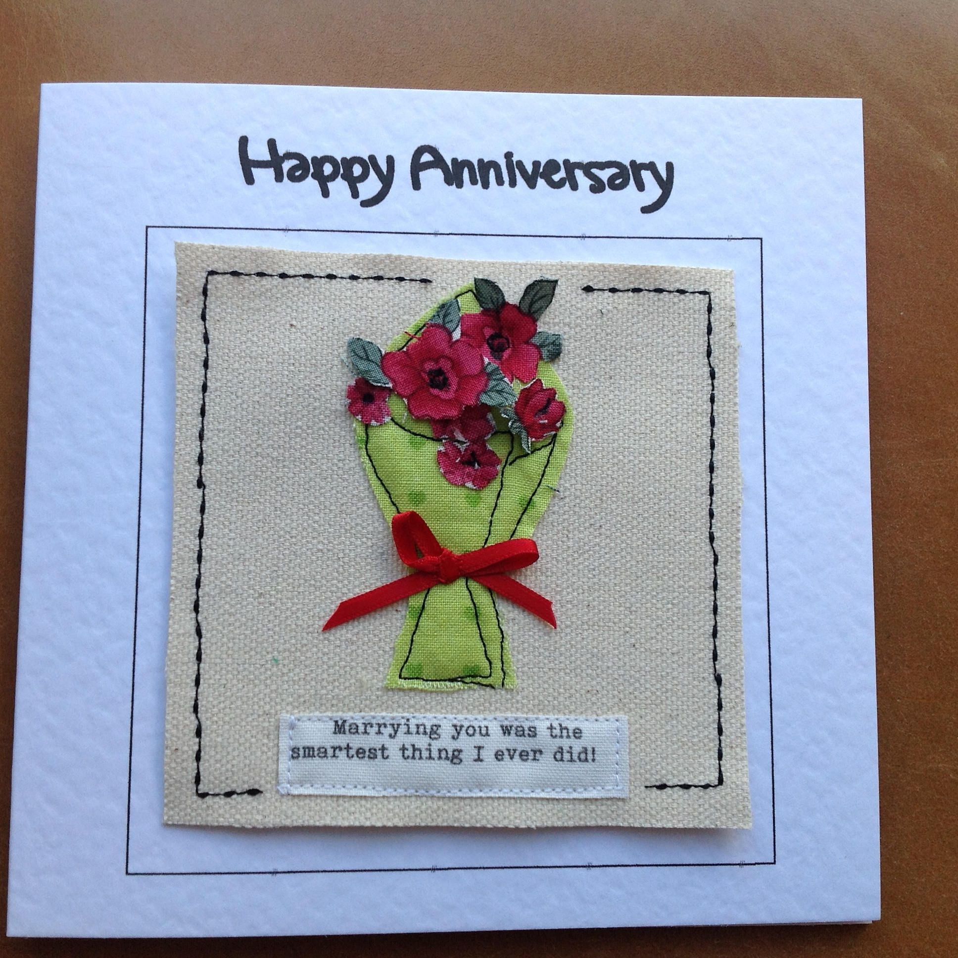 Bouquet of red roses card for 4th anniversary romantic