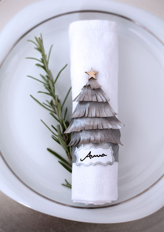 Tischdekoration Und Namensschilder Fur Weihnachten Basteln