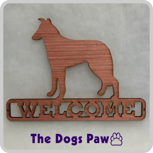 Laser Cut Smooth Collie Welcome Sign #collie #shopthedogspaw