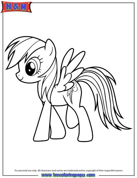 Rainbow Dash Fluttershy My Little Pony Coloring Pages