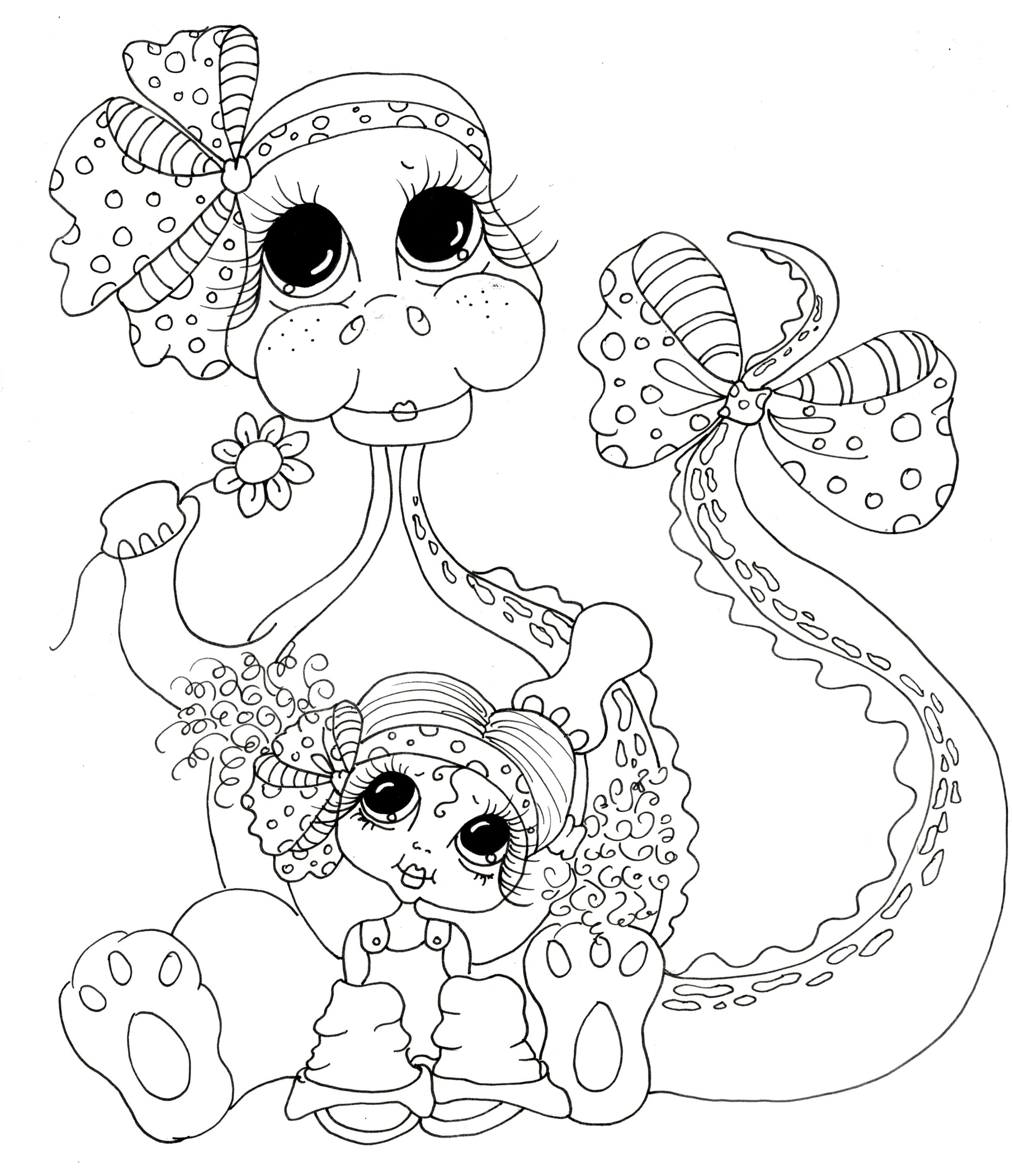 Big eyed girl pages coloring pages for Big girl coloring pages