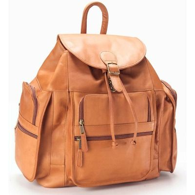 Clava Leather Vachetta Extra Large Backpack in Tan