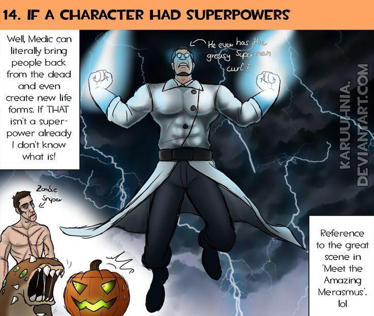 TF2 30 jours dessin Challenge Jour 14: Sérieusement, Medic est comme un superman diabolique dans Meet the Amazing Merasmus! - # incroyable # défi # ...
