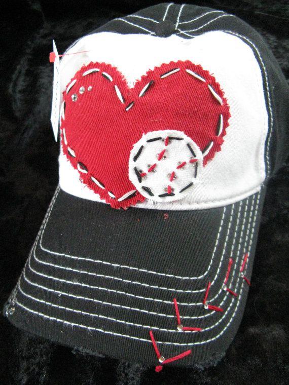 Baseball Love Patchwork And Crystal Baseball Cap By Blingirlspirit 26 95 Baseball Mom Baseball Hats No Crying In Baseball