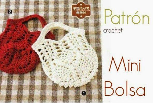 Mini Bolsita de Crochet Patron - Patrones Crochet Y si lo hiciera ...