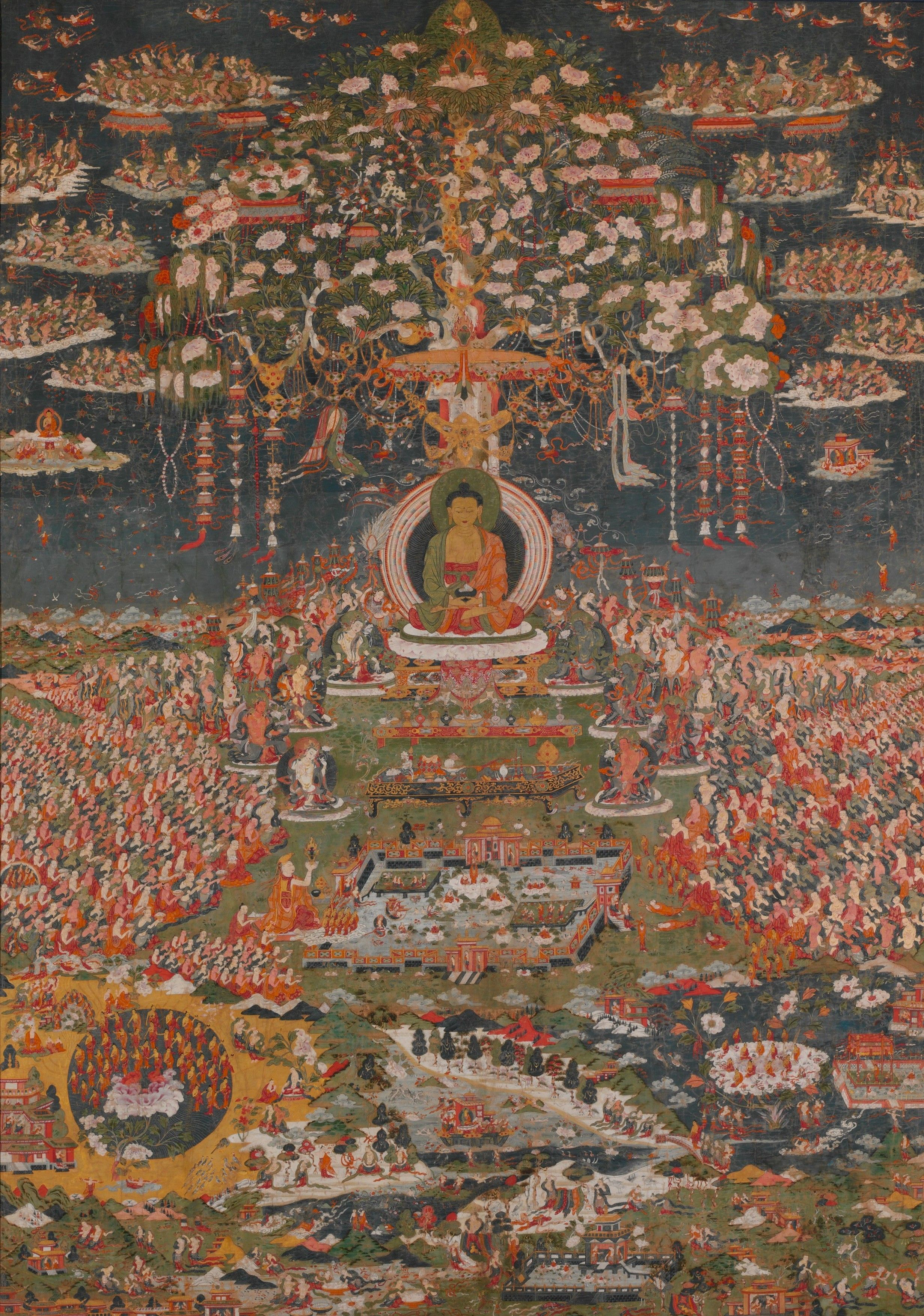 Buddhist Tapestry At The Met