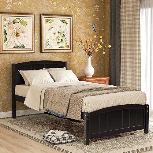 Mobel Buy Twin Bed Frame Wood Platform Bed Headboard Footboard