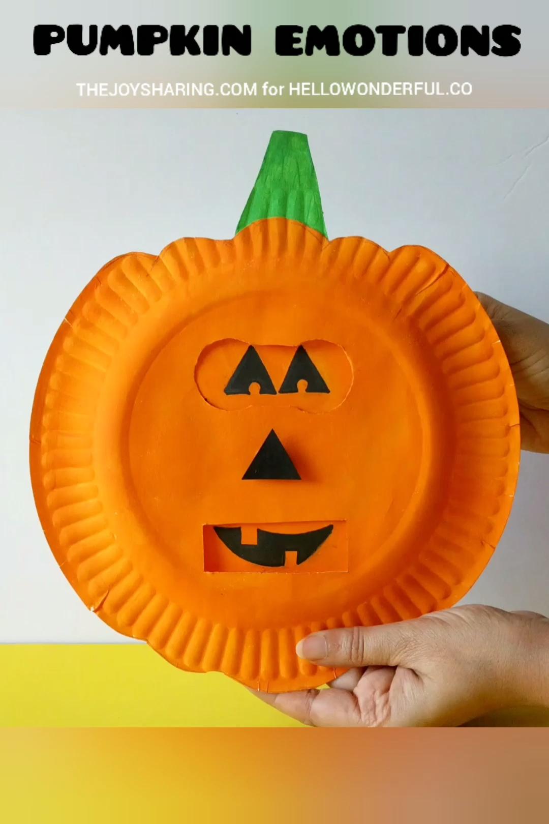 Pumpkin Emotions Craft #halloweencraftsfortoddlers