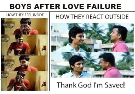 Boys After Love Failure How They Feel Inside Vs Outside Funny Comment Pictures Download Love Failure Boy Quotes Best Love Failure Quotes