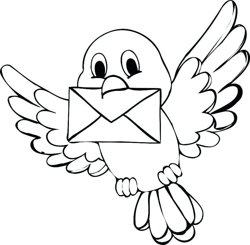 Coloring Baby Bird Coloring Pages Cute Cartoon Tweety Printable