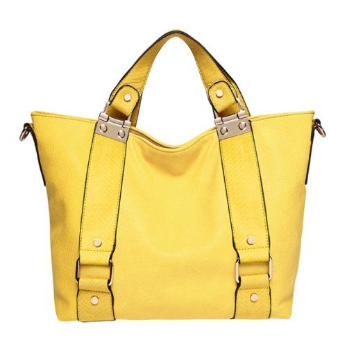 "Melie Bianco ""Bretta"" Top Handle Handbag (H6320) Yellow Melie Bianco, To SEE or BUY just CLICK on AMAZON right here http://www.amazon.com/dp/B00IX4DSSQ/ref=cm_sw_r_pi_dp_f2Vytb1ND5GAZ595"