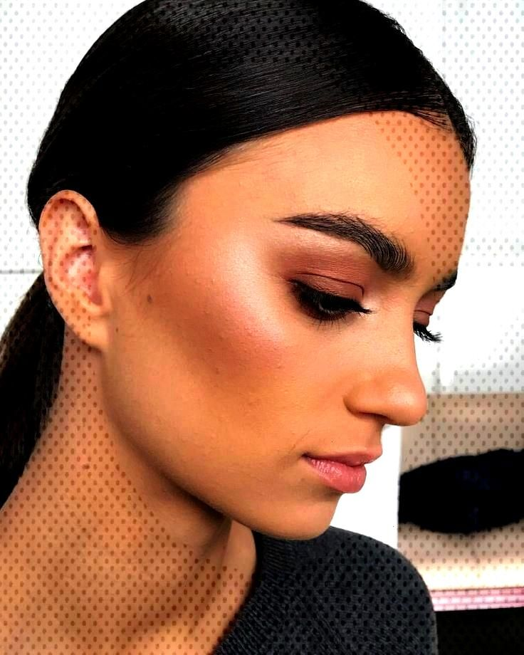 make-up, everyday, winged eyeliner, false eyelashes, lip gloss, artificial ... -  natural make-up,