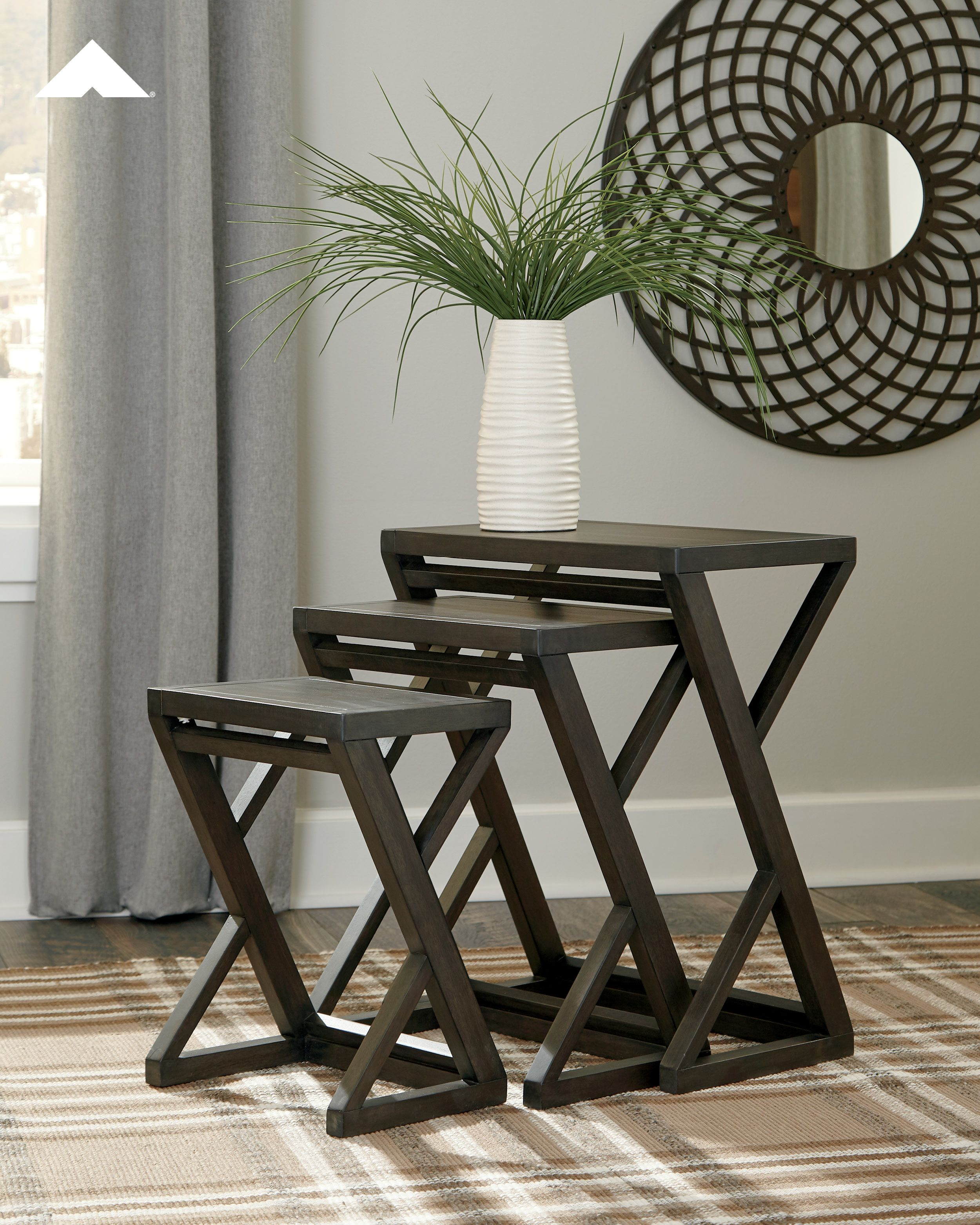- Cairnburg - Gray - Accent Table (Set Of 3) Table, Table Settings