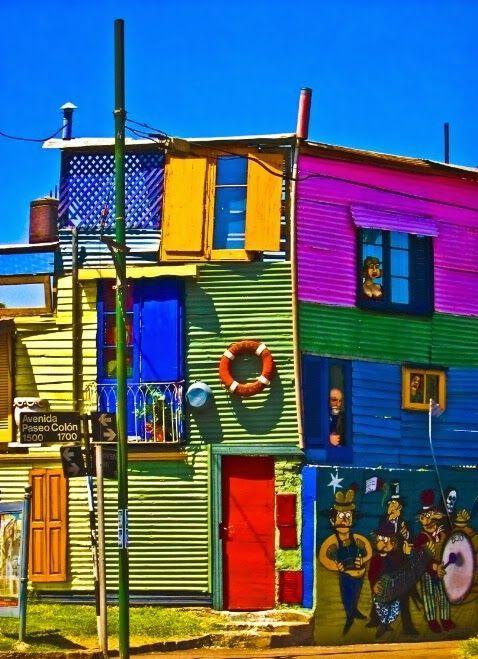 Tipico conventillo del Barrio de La Boca, Ciudad Autonoma de ...
