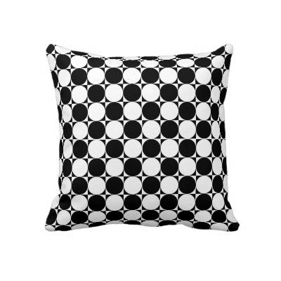 #pillows #forhome #zazzle #elenaindolfi  Black and White Polka Dots by elenaind