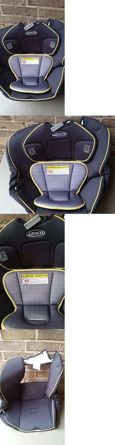 NEW Graco Replacement Contender Car Seat Pad Body Head Support Gray Yellow