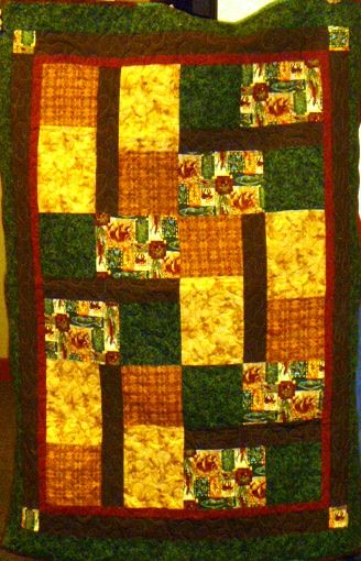 One of our kit quilts, sewn up nicely.