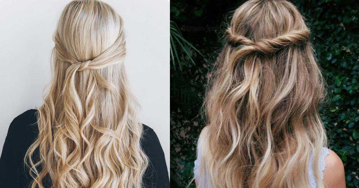 Gorgeous Half Up Half Down Hairstyles For Long Hair. Step By Step Tutorials  To Help