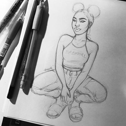 #fashionsketch #fashiondrawing #fashionillustration #drawing #illustration #art #artist #fashionable #nataliamadej #sketch
