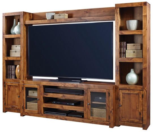 Alder Ii Wall With 72 Fruitwood Tv Stand Living Room Pinterest