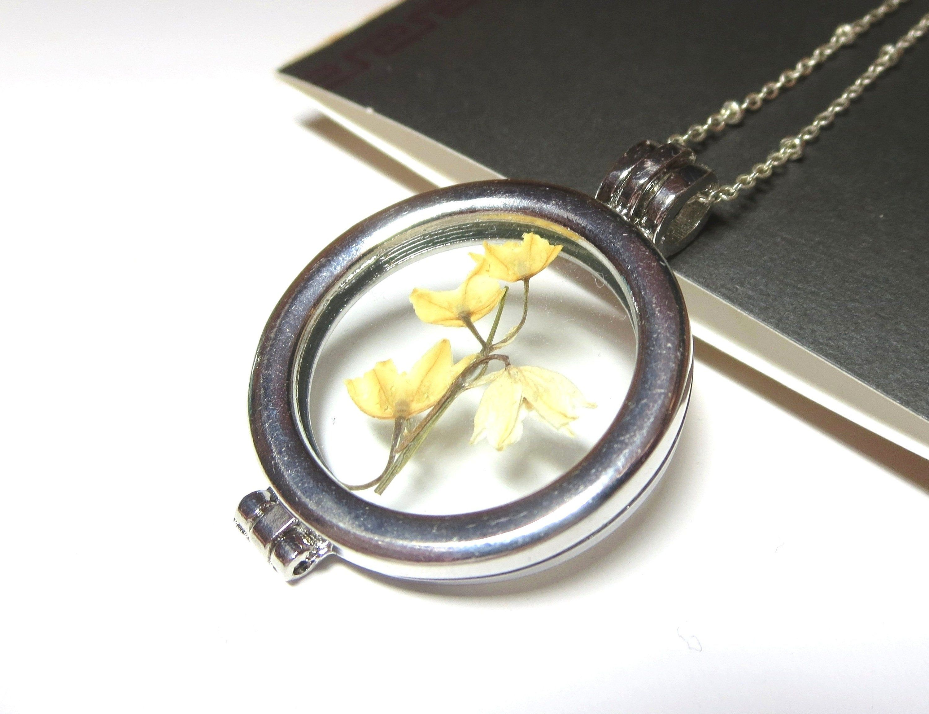Lily of the valley necklace dried flowers lily of the