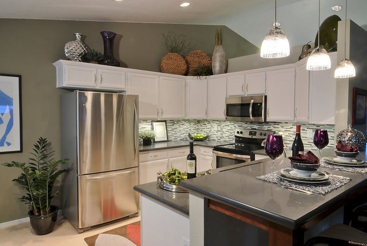 above cabinet decorating ideas   Above cabinets decor, pendent style ...