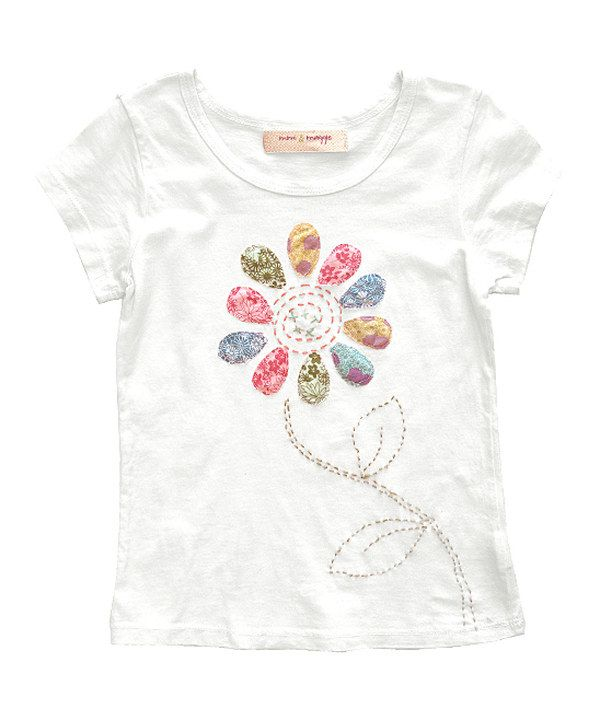 Take a look at this White Flower Pop Tee - Toddler & Girls on zulily today!