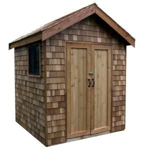 8x8 Cedar Dreaming Bigger But This One Is Likely The Best Option For A Poolhouse Toilet And Shower Shed Kits Shed Shed Plans