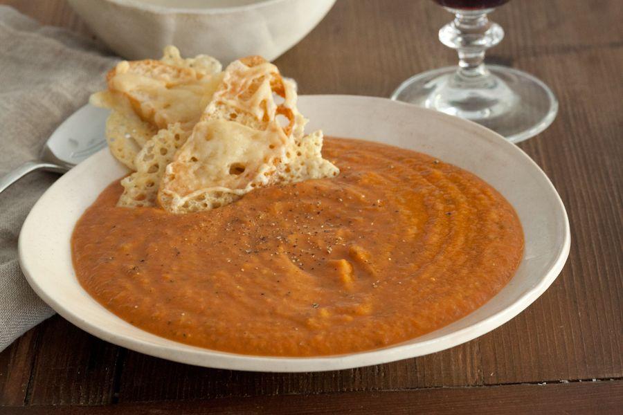 Fiery Roasted Garlic & Tomato Soup