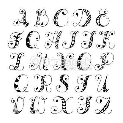 Handwritten Doodle Alphabets  Google Search  Bullet Journal