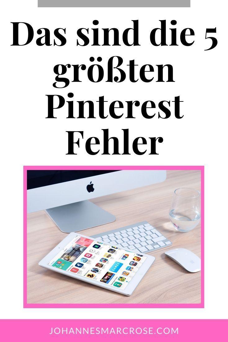 Die 5 größten Pinterest Fehler Seo tipps, Tipps und