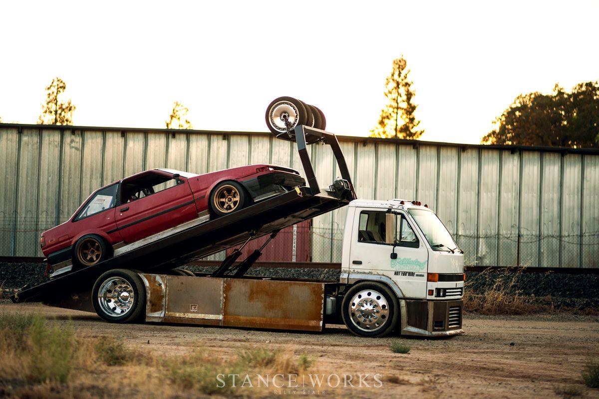 The Baller Hauler Miles Shinneman S 1993 Isuzu Npr Transporter Lowrider Trucks Vintage Trucks Tow Truck
