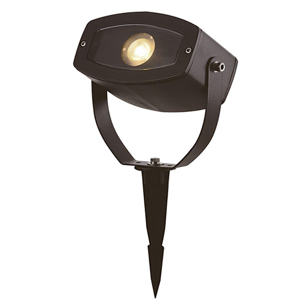 Adara LED strålkastare levereras med ett markspjut och passar för att lysa upp större träd eller